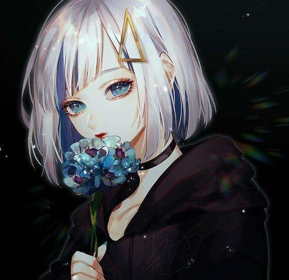 Anime Woman Silver Hair Brief Anime Desenhos Rpg