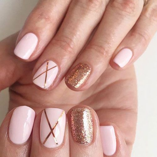 35 Gorgeous Rose Gold Nails Perfect For Any Event 2020 Guide Rose Gold Nail Art Rose Gold Nails Gold Gel Nails