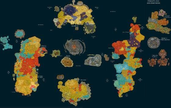The New Worlds Map Wow