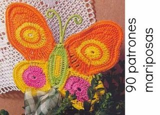 90 Mariposas patrones en crochet