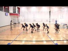 Volleyball Footwork Drills For Passing The Star Drill Flv Youtube Volleyball Drills Volleyball Practice Volleyball Passing Drills