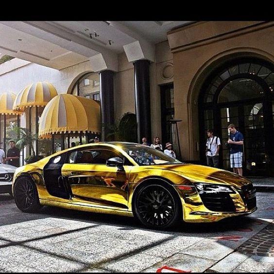 gold chrome audi r8 autos pinterest gar231ons iron