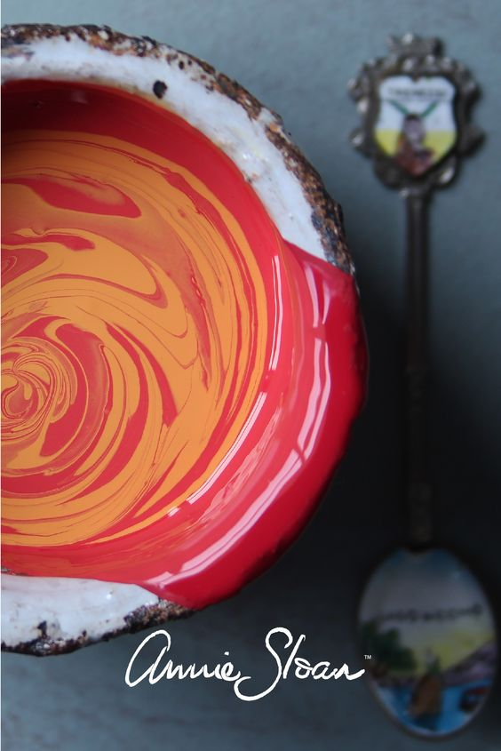 Mixing Barcelona Orange and Emperor's Silk for a beautiful coral