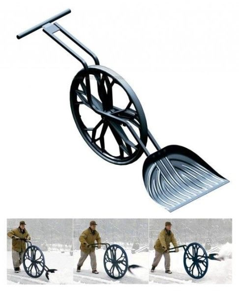 easy on the back snow shovel