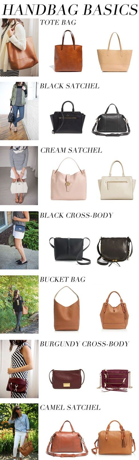 http://www.styleyourwear.com/category/handbags-for-women/ Handbag basics...: