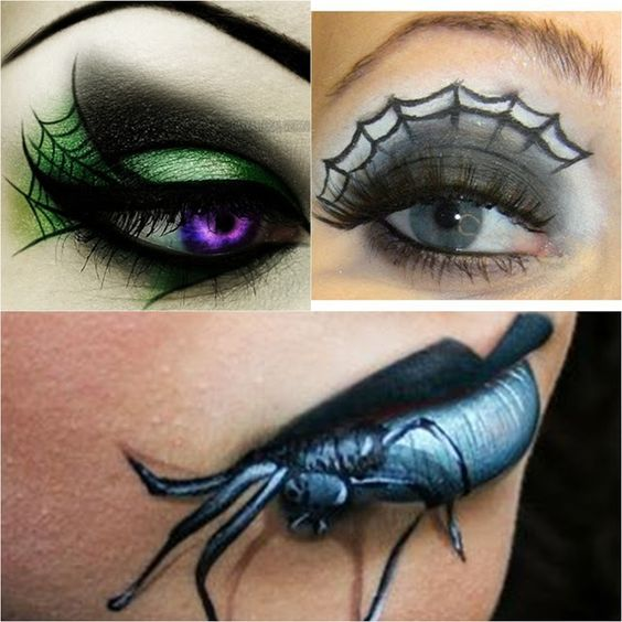 Halloween - Cool make-up idea if you're dressing up like a spider for #Halloween !  Halloween Make Up Ideas for Women