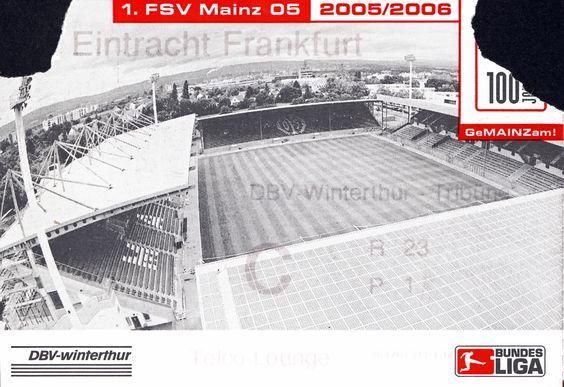FSV Mainz 05 - Eintracht Frankfurt, 19.11.2005, Stadion am Bruchweg, Mainz #FSV #Mainz #Ticket