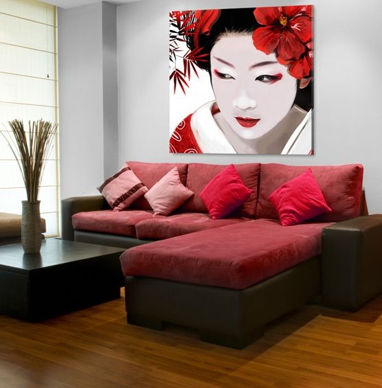 bild auf leinwand japanische geisha bilder ostseebilder drucken