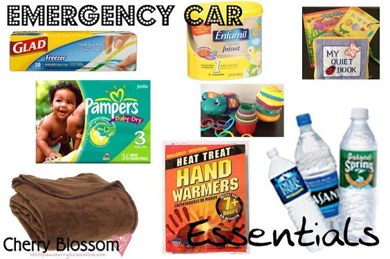 Emergency Car Essentials for traveling during the winter with a baby!