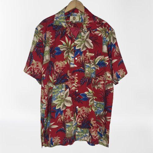 Jo Axxs Men S Large L Red Tropical Floral Hawaiian Aruba Camp Shirt Short Sleeve Joaxxs Buttonfront Casual In 2020 Camping Shirt Casual Short Sleeve
