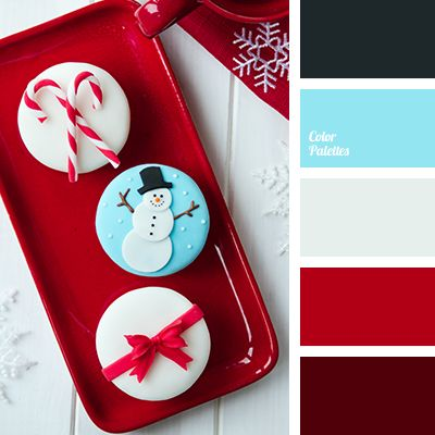 Christmas color inspiration- bright blue, bright red, burgundy, christmas palette, deep red, gray, new year color palette, New Year color schemes, New Year colors, red color, scarlet color, silver, wine.
