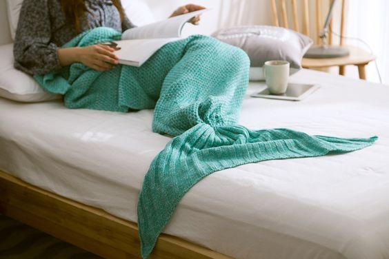 Mermaid Tail Knit Sleeping Pod Blanket