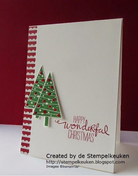 de Stempelkeuken: Merry Christmas Monday #1 CAS Christmas card with Festival of Trees
