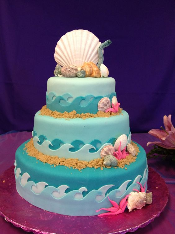 Cake Ideas For Quinceaneras : Under the Sea Quinceanera cake - AppleMark Under the Sea ...