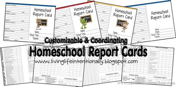 Free Homeschool Report Card Printables