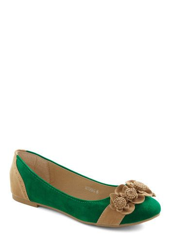Top of the Flower Flat, #ModCloth  Wish I had these to wear in March.