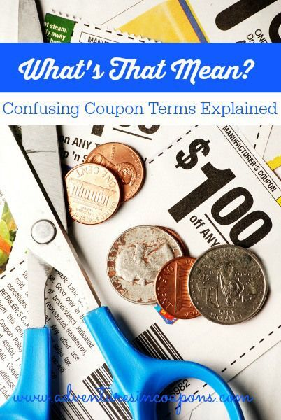 New to using coupons? If so, you may be confused by some of the terms and abbreviations you see! That's okay! In this post, I explain those confusing coupon terms for you so you can start saving up a storm!