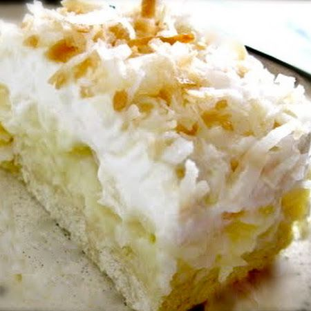 Coconut Cream Pie Bars- this one is not linked to QVC and actually has the recipe!  :)
