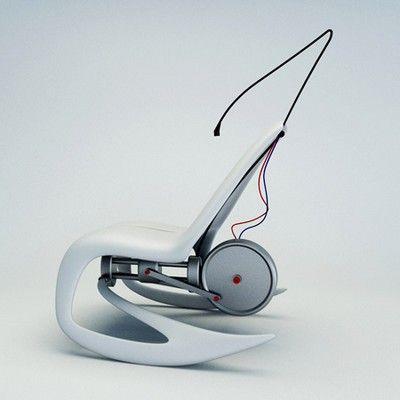 cadeira de balanço elétrica branca