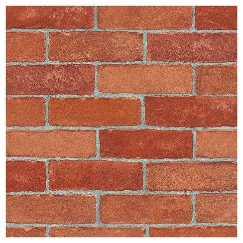 Devine Color Textured Brick Peel Stick Wallpaper Red Color Textures Peel And Stick Wallpaper Red Brick Wallpaper