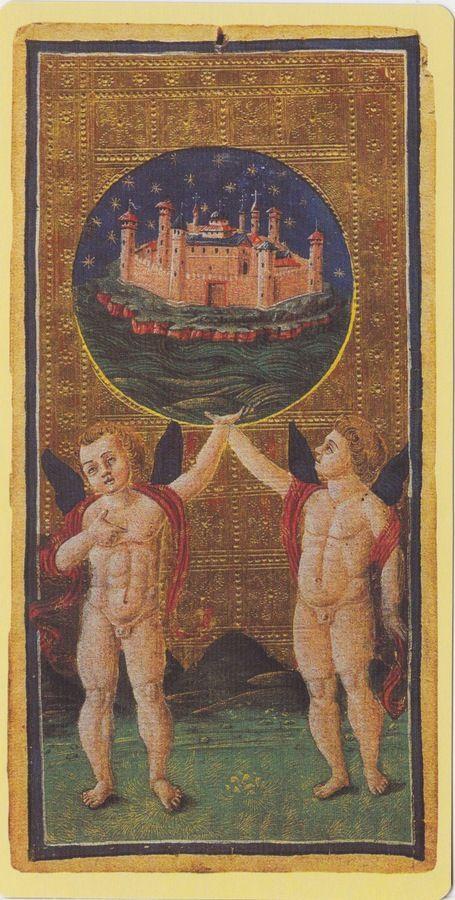 The World -- Pierpont Morgan Visconti Sforza Tarocchi Deck, Italy, Milan, ca. 1450: