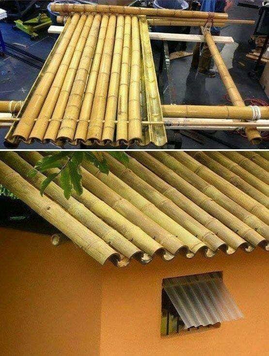 Pin By Raajjan Mc On Architecnology Bamboo Building Bamboo Roof Garden Architecture