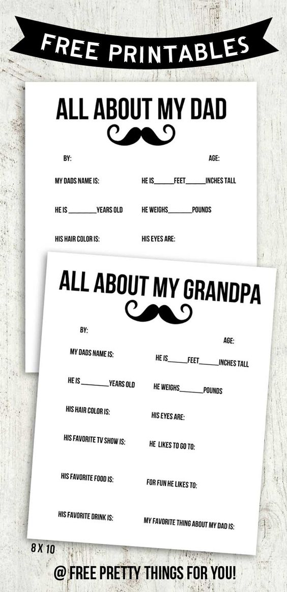 Striking image pertaining to all about my papa printable