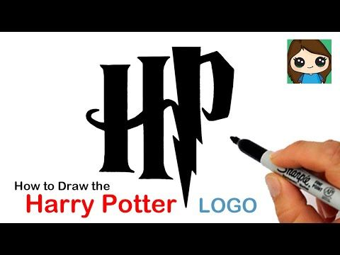 How To Draw The Harry Potter Logo Youtube Harry Potter Logo Harry Potter Drawings Harry Potter
