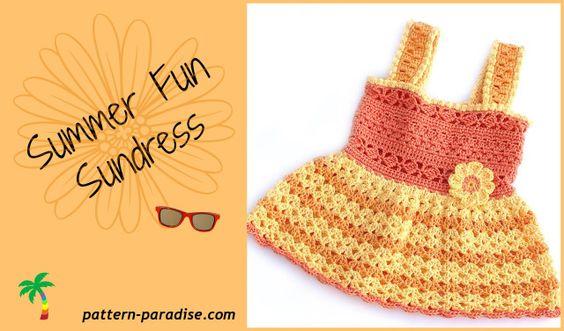 orange summer fun dress by Pattern Paradise.