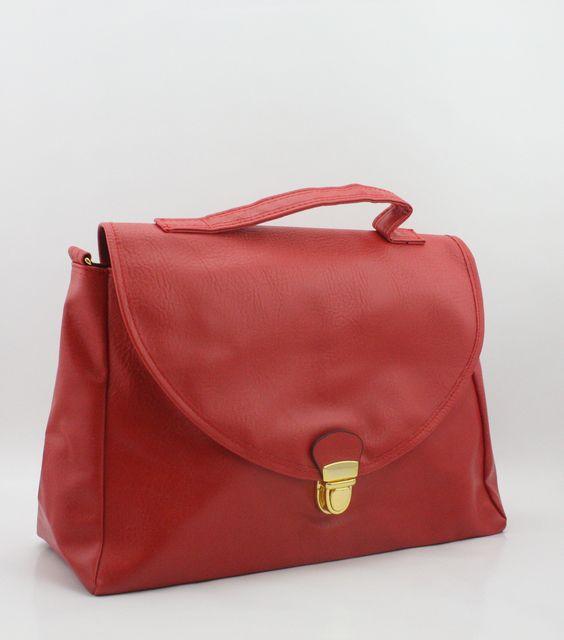 Claire Satchel Red | Peoni #handbags