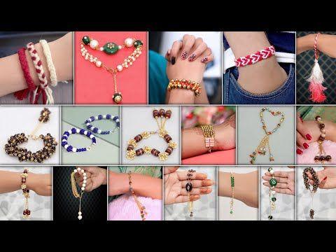Girls Diy Designer Bracelets For Jeans Tops Gown Drasses Etc Youtube In 2020 Bracelet Designs Diy For Girls Bracelets