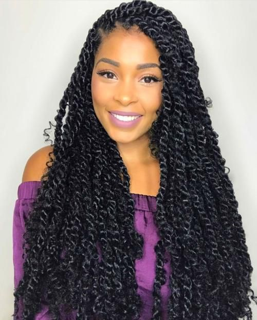 Passion Twists In 2020 Goddess Braids Hairstyles Braided Hairstyles For Black Women Twist Braid Hairstyles