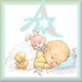 Alfabeto de bebé durmiendo. - Oh my Alfabetos!