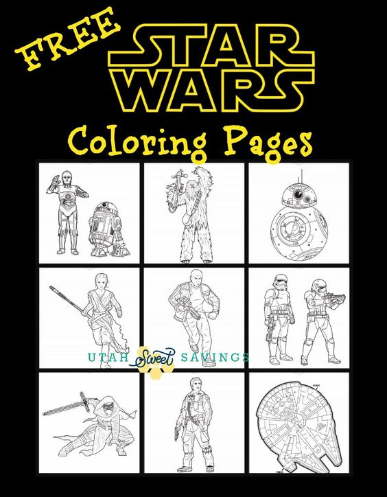 utah sweet savings free star wars the force awakens coloring pages and activity pages our. Black Bedroom Furniture Sets. Home Design Ideas