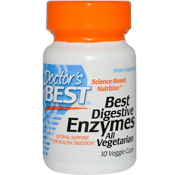 Special, Doctor's Best, Best Digestive Enzymes All Vegetarian, 10 Veggie Caps    снимает тяжесть и вздутие после переедания