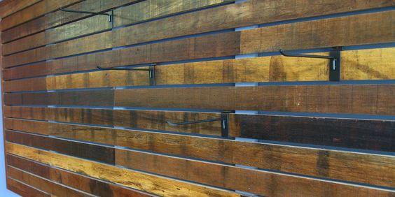 Viridian Reclaimed Wood Slat Wall Jakarta Market Blend