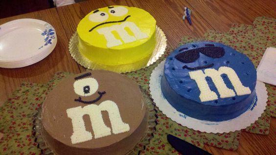 M & M cakes