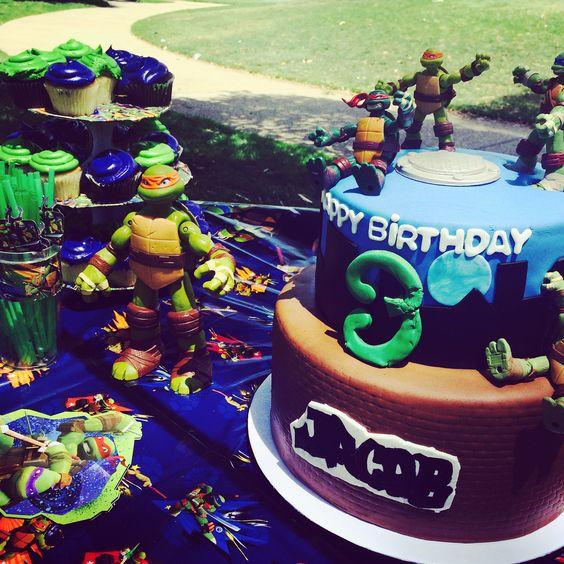 TMNT themed Birthday Party