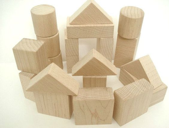 Wooden Toy Blocks  Building Blocks  20 Piece by LittleWoodlanders, £18.00