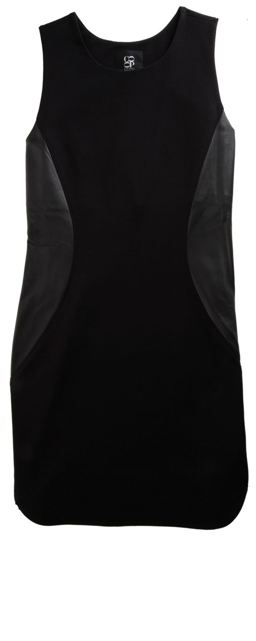 Barney's Co-op Leather Inset Dress. WANT THIS.