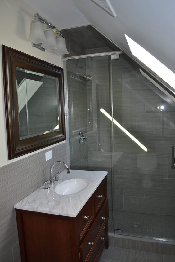 3rd floor bath shower door swing judeh 39 s residence for Bath remodel chicago