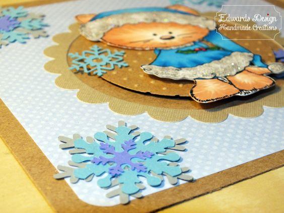 Edwards Design   Handmade Creations Copics Fur: E00, E11, E13, R20 Berries: R24, R27, R29, R59 Leaves: G14, G16, G17, G19, G29 Blue: B02, B04, B05, B06