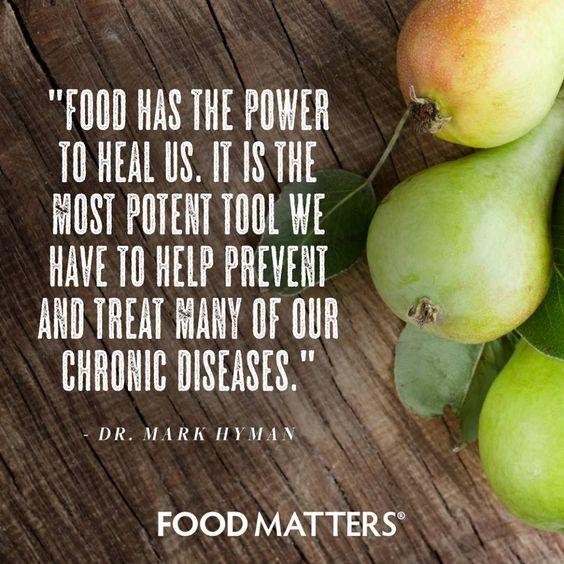 Food is medicine!  www.foodmatters.com #foodmatters #FMquotes