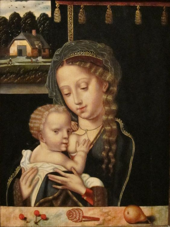 Madonna and Child Nursing, unknown artist of the Flemish School, early 16th century