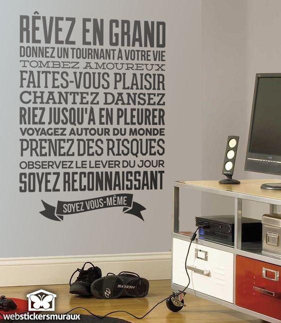 Stickers Muraux Soyez Vous M Me Id Es Pour La Maison Pinterest M Mes Et Stickers