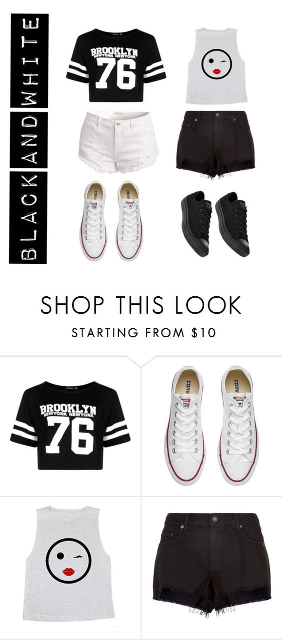 """""""Untitled #161"""" by symonezquesnel on Polyvore featuring Boohoo, Converse and rag & bone"""