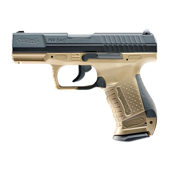 Walther P99 DAO RAL 8000 Blow Back Softair Co2 Pistole