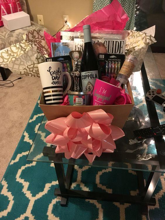 Engagement gift basket