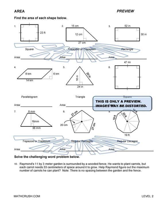 Printables Free Geometry Worksheets area of polygons worksheets free geometry and help pages by math crush