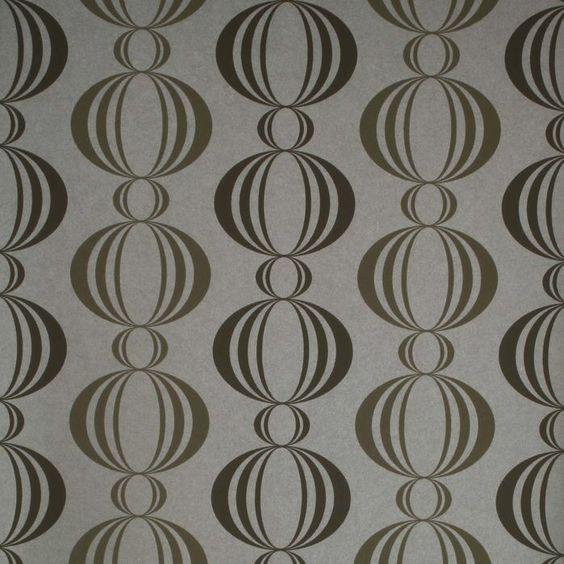 "Verve Retro Orb 33' x 20.5"" Geometric 3D Embossed Wallpaper"